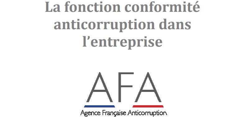 """Guide pratique sur """"La fonction conformité anticorruption dans l'entreprise""""."""
