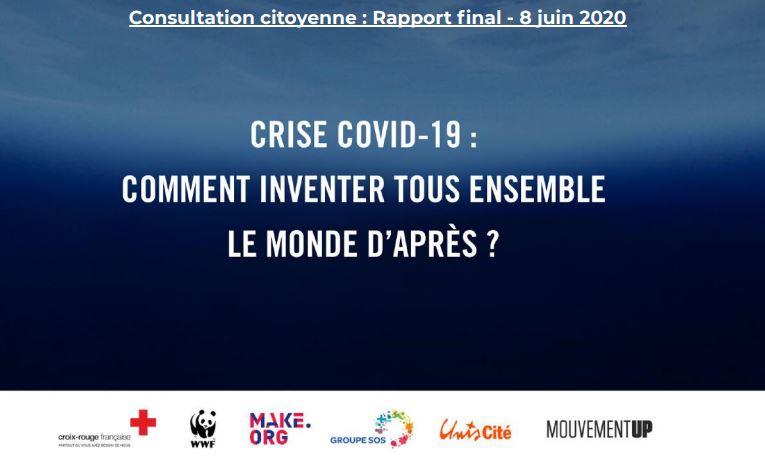 Consultation citoyenne WWF : comment inventer tous ensemble le monde  d'après ?