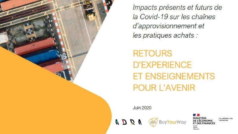 Résultats de l'étude sur les impacts du Covid-19 sur les pratiques achats