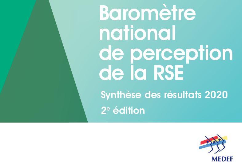 Deuxième édition du baromètre national de perception de la RSE en entreprise (2020)