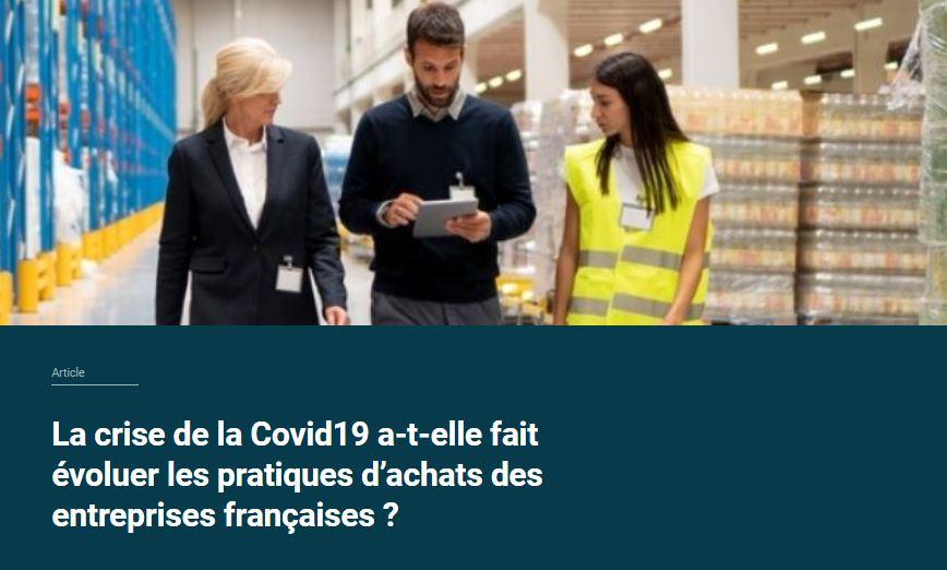 Covid19 et pratiques des achats des entreprises
