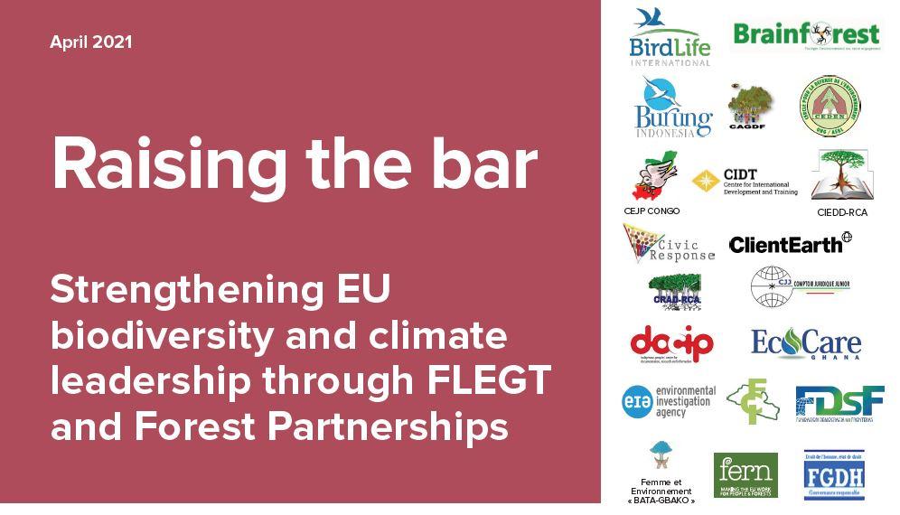 Déclaration de 48 organisations de la société civile à l'UE (FLEGT-APV-RBUE)